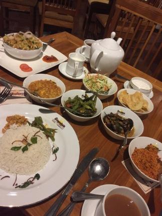 Typisches Curry Gericht