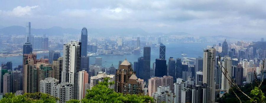Aussicht von The Peak auf Hong Kong