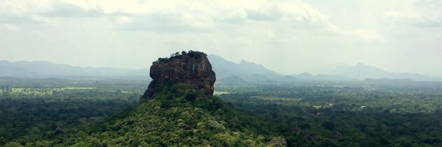Blick auf Sigiriya