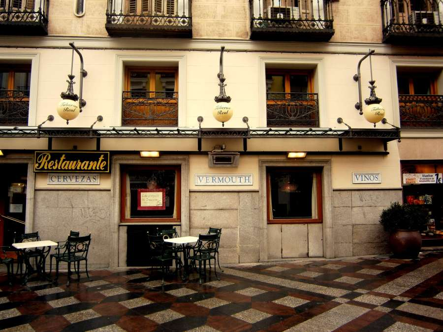 Charmantes Cafe in Madrid