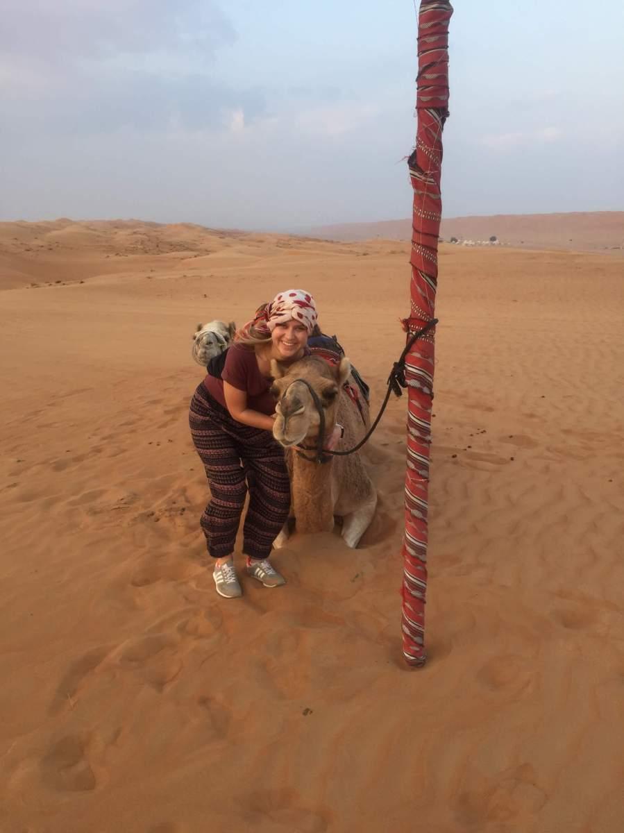 Kameltour im Oman