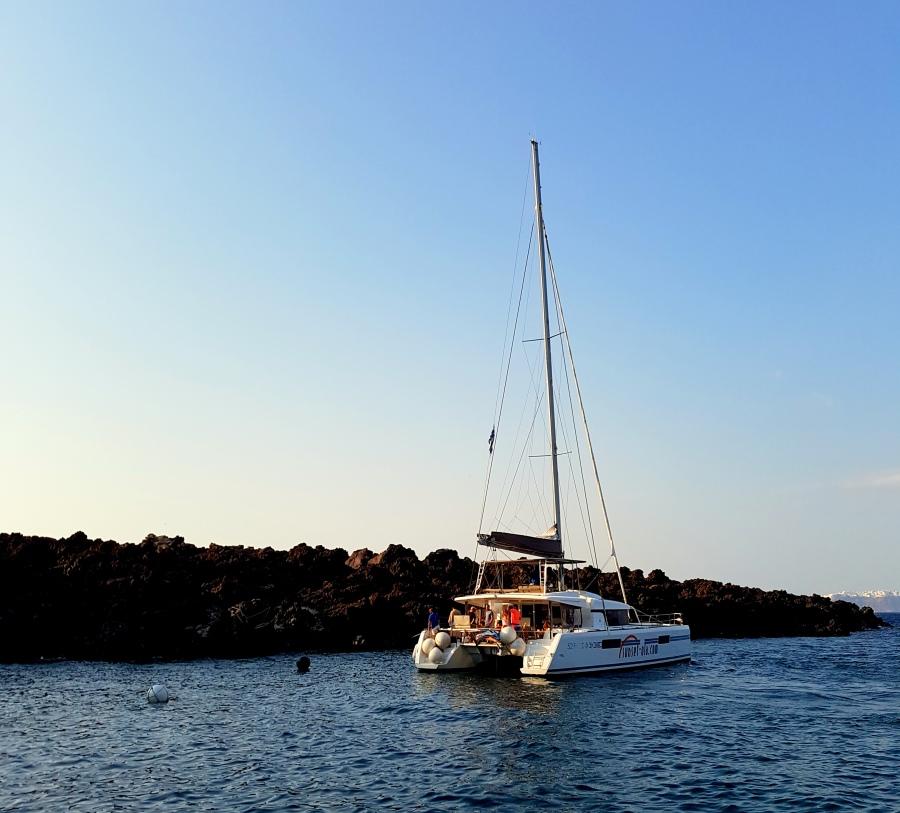 Segeltour in Santorini