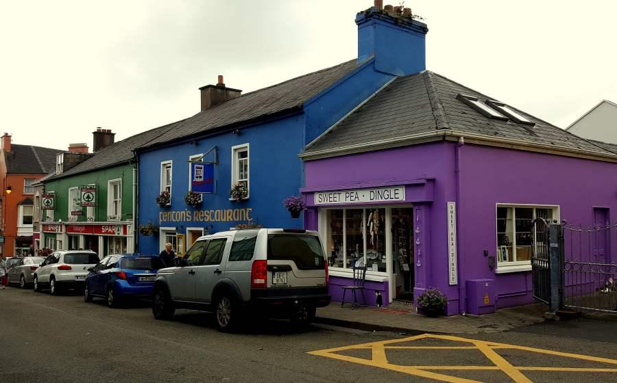 Bunte Häuser in Irland
